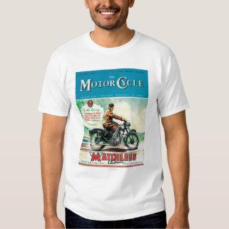 La portada de revista de la moto remeras