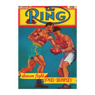 La portada de revista del anillo lona estirada galerias