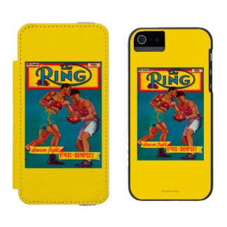 La portada de revista del anillo funda cartera para iPhone 5 watson