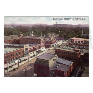 La Porte Indiana West Main Street Card