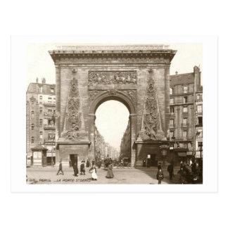 La Porte vintage de St Denis, París, Francia Tarjeta Postal