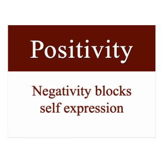 La positividad permite la expresión del uno mismo postales