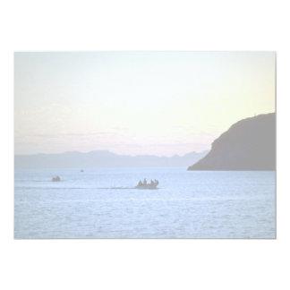 """La posluminiscencia de la puesta del sol, bote invitación 5"""" x 7"""""""