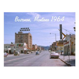 La postal 1964 de Bozeman Montana del hotel de Bax