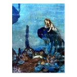 La postal 2 del arte del vintage de little mermaid