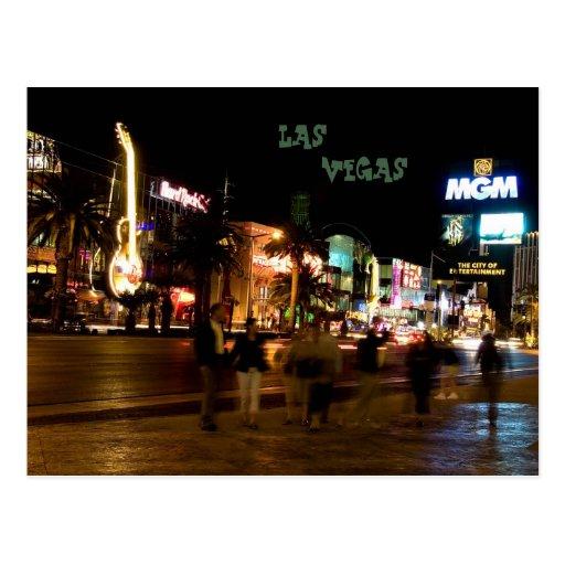 La postal #6 de Las Vegas de la noche de la tira @