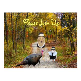 La postal adaptable de la acción de gracias invita