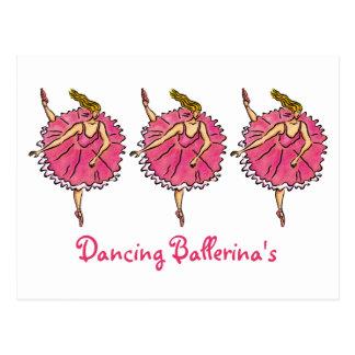 La postal adaptable de la bailarina del baile
