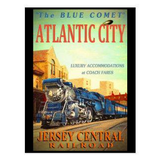 La postal azul del tren del cometa