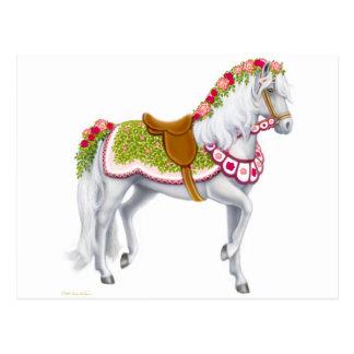 La postal color de rosa del caballo