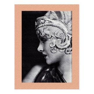 La postal de la actriz joven