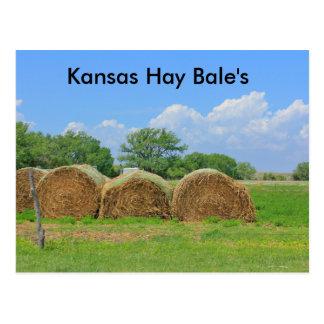 La postal de la bala de heno de Kansas