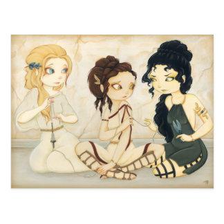 La postal de la mitología griega de los sinos