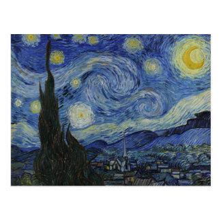 La postal de la noche estrellada