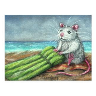 La postal de la playa de la rata de la balsa