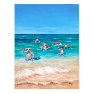 La postal de la playa del vorágine