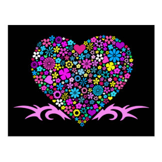 La postal de la tarjeta del día de San Valentín tr