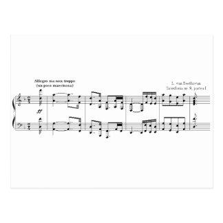 La postal de no. 9 de la sinfonía
