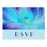 La postal de RSVP de la orquídea azul