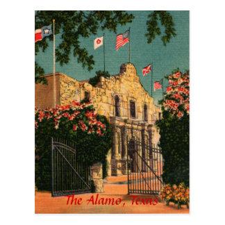 La postal de Tejas del vintage de Álamo