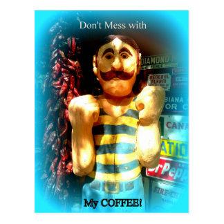 la postal del amante del café