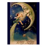 La postal del Año Nuevo del vintage