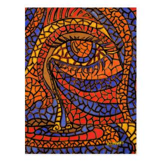 La postal del arte abstracto del rasgón