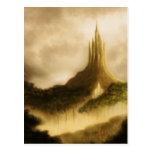 la postal del arte de la fantasía del reino del el