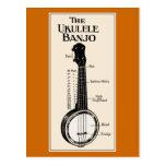 La postal del banjo del Ukulele
