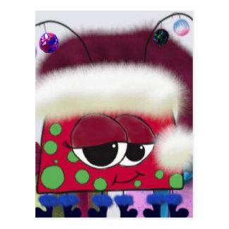 La postal del ~ del insecto del amor del navidad