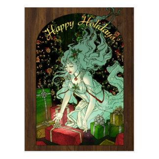La postal del donante del regalo