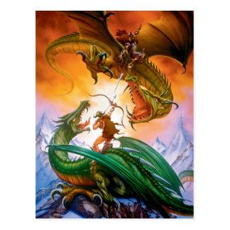 La postal del dragón del duelo