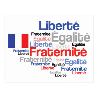 La postal del francófilo francés de la bandera de