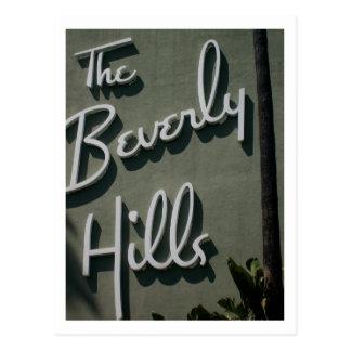 La postal del hotel de las colinas de Bevely