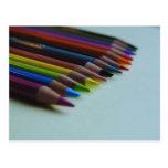La postal del lápiz coloreado