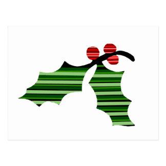 La postal del logotipo de la hoja del acebo