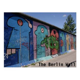 La postal del muro de Berlín