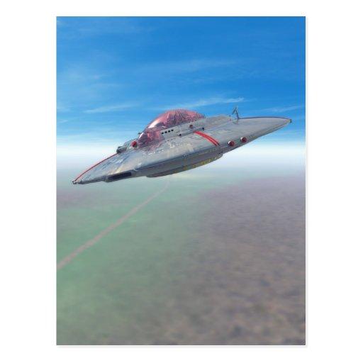 La postal del platillo volante