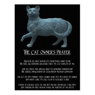 La postal del rezo del dueño del gato