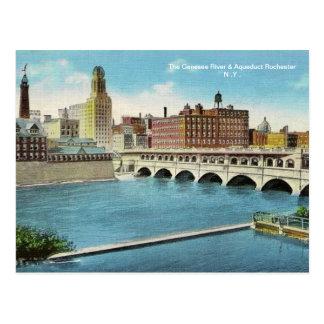 La postal del río y del acueducto de Genesee