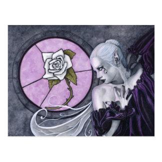 La postal del rosa blanco