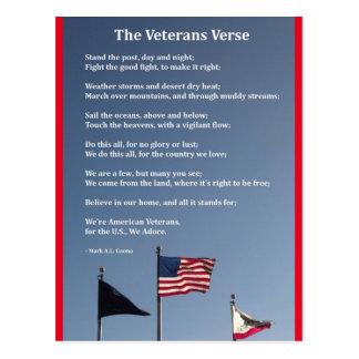 La postal del verso de los veteranos
