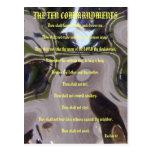 La postal del vidrio de Brown de diez mandamientos