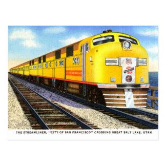 La postal del vintage de Streamliner