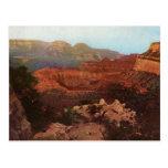 La postal del vintage del Gran Cañón