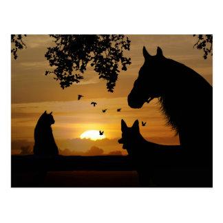 La postal deliciosa de un amante animal
