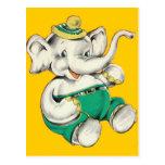 La postal feliz del elefante