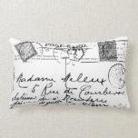 La postal francesa antigua sella la almohada de Pa