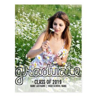 La postal graduada de la foto de la diversión