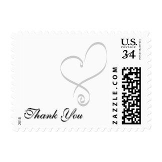 La postal hace único para agradecerle franqueo sello postal